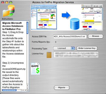 Access to FmPro Migration screenshot