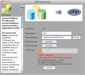 FmPro to PHP Migration screenshot