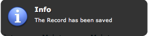 Gritter Info Dialog - Saved Record